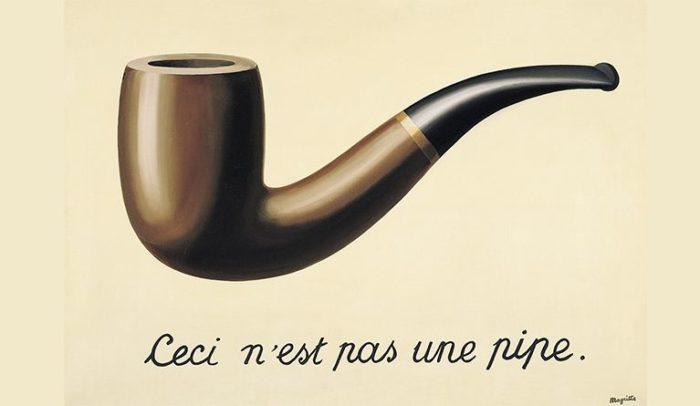 Ceci n'est pas une pipe, exemple d'art non-A